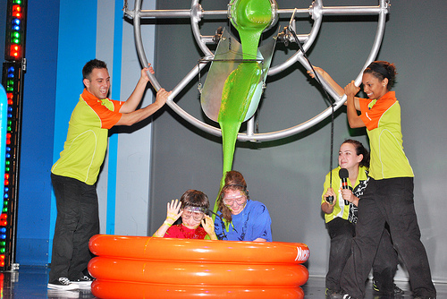 Kids getting slimed, Nickelodeon Resort, Orlando