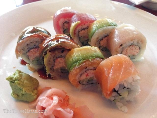 Sushi roll at STRIP, Atlantic Station