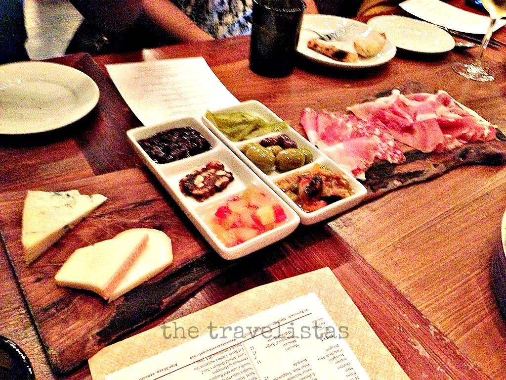 charcuterie board at Domenica, The Roosevelt Hotel
