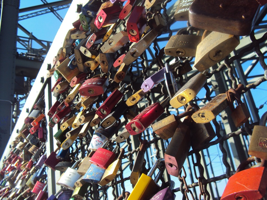 Germany's Hohenzollem bridge, Padlock bridge of Love
