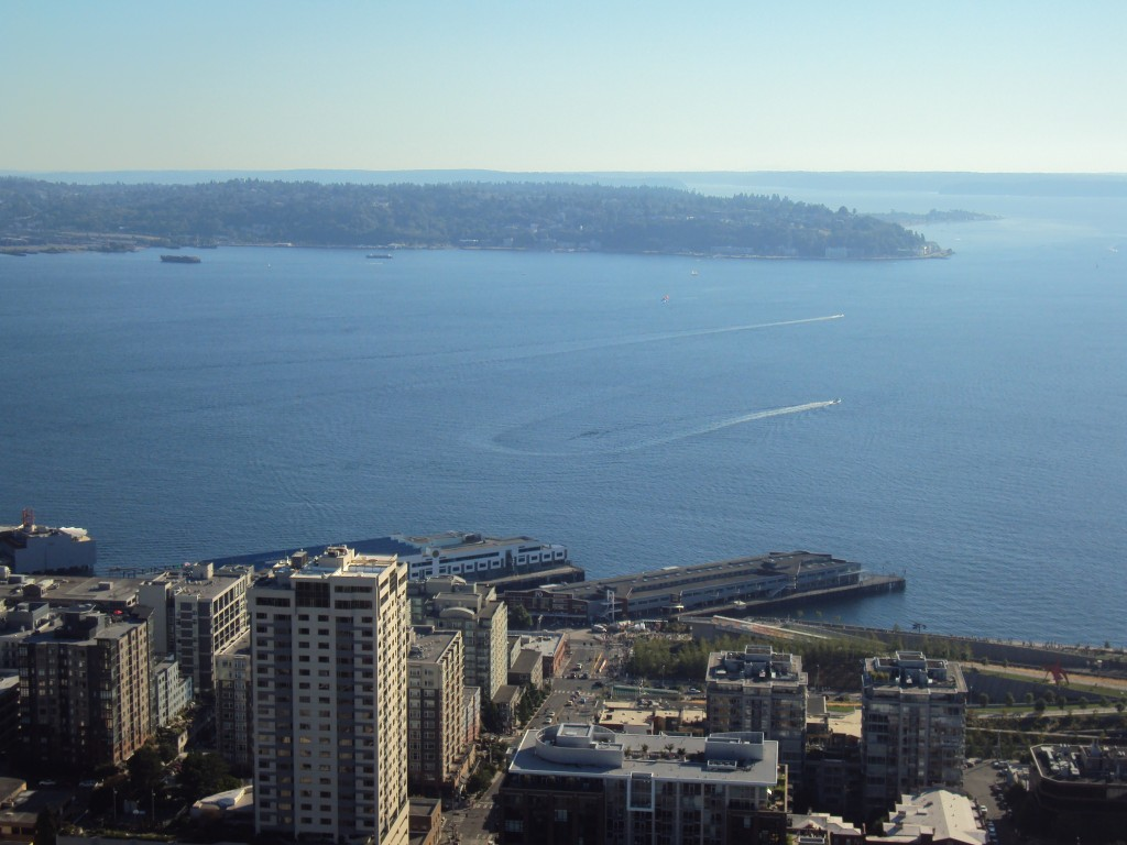 View of the ocean, Seattle, WA