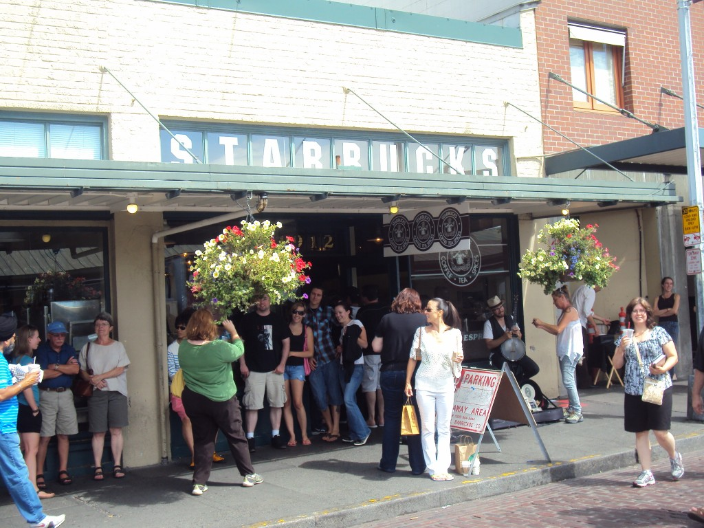 Original Starbucks store, Seattle, WA