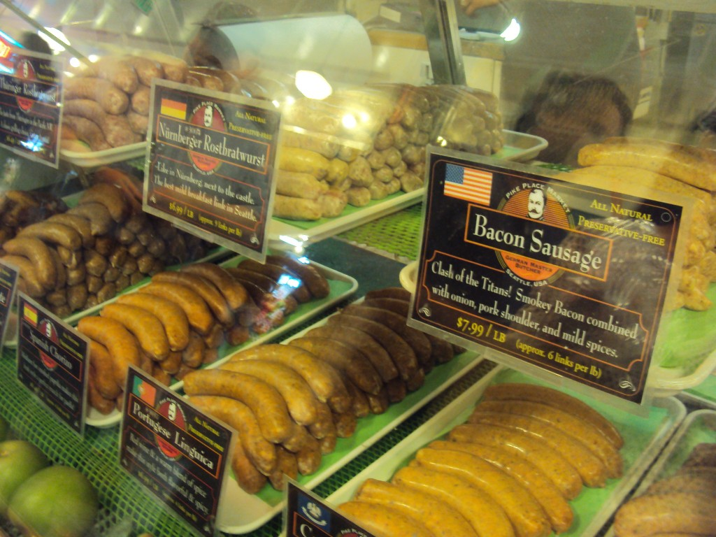 Deli meats, Pikes Place Market, Seattle