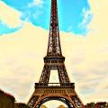 Eiffel Tower edit, Tour de Eiffel, Paris, France, The Travelistas